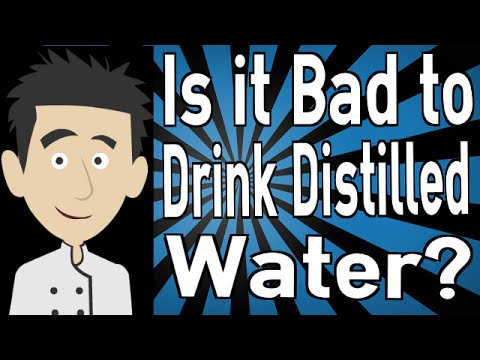can a person drink distilled water