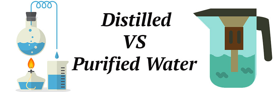what is the difference between distilled and purified water